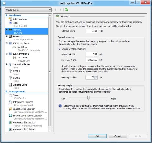Hyper-V приносит на ПК технологии виртуализации, характерные для серверов