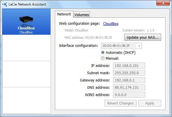 По прямому назначению LaCie Network Assistant придется использовать довольно редко