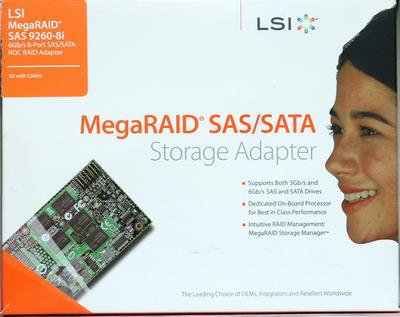 8-портовый SAS-контроллер LSI MegaRAID SAS 9260-8i