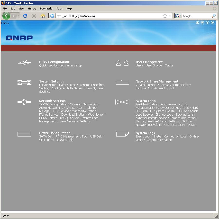 Сетевой накопитель QNAP TS-509 Pro на платформе x86