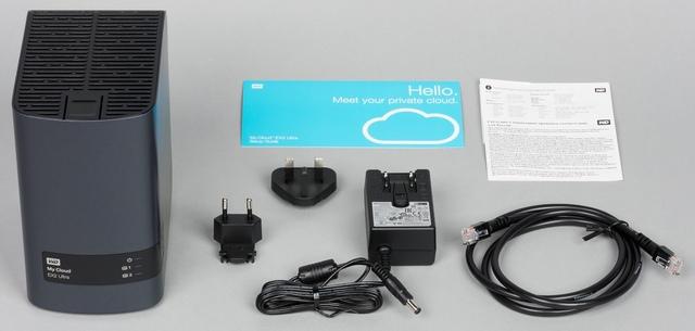 Комплект поставки сетевого накопителя WD My Cloud EX2 Ultra