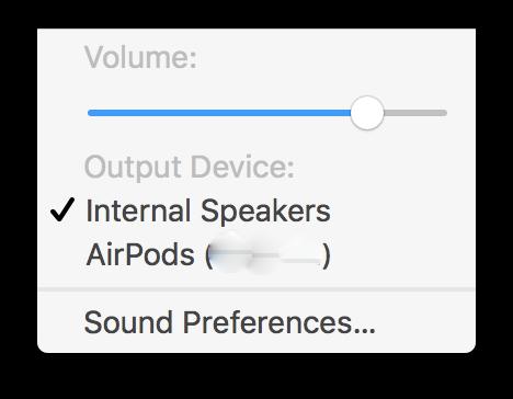 Apple AirPods в связке с MacBook Pro
