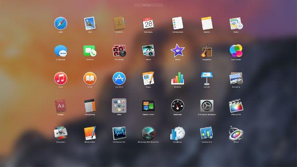 Скриншот OS X 10.10 Yosemite