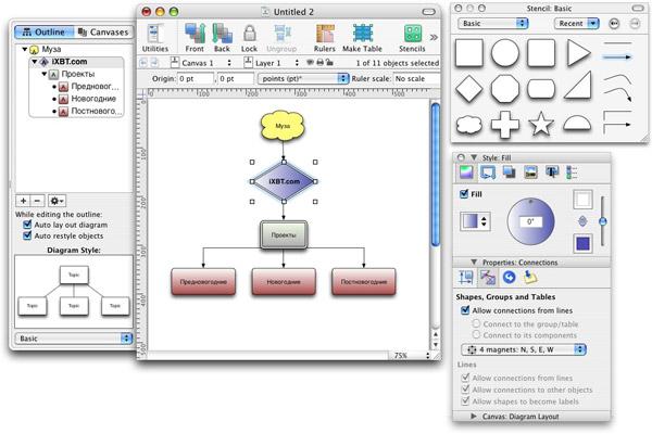 создания схем в Mac OS X