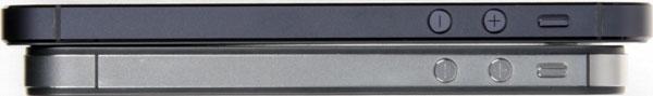 Боковая грань iPhone 5 и iPhone 4S