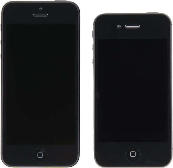 Фронтальная сторона iPhone 5 и iPhone 4S