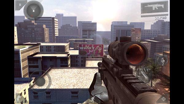 Modern Combat 3 на iPhone 5