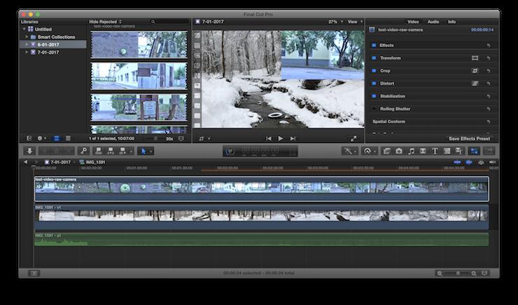 Скриншот программы Final Cut Pro X