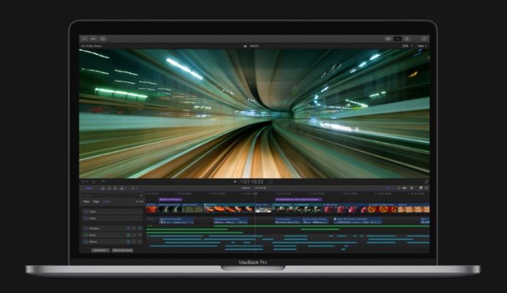 Final Cut Pro X на MacBook Pro Retina