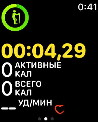 Скриншот Apple Watch