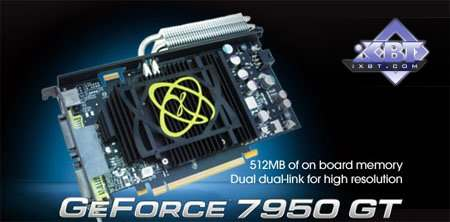NVIDIA GeForce 7950 GT 512MB PCI-E and XFX GeForce 7950 GT