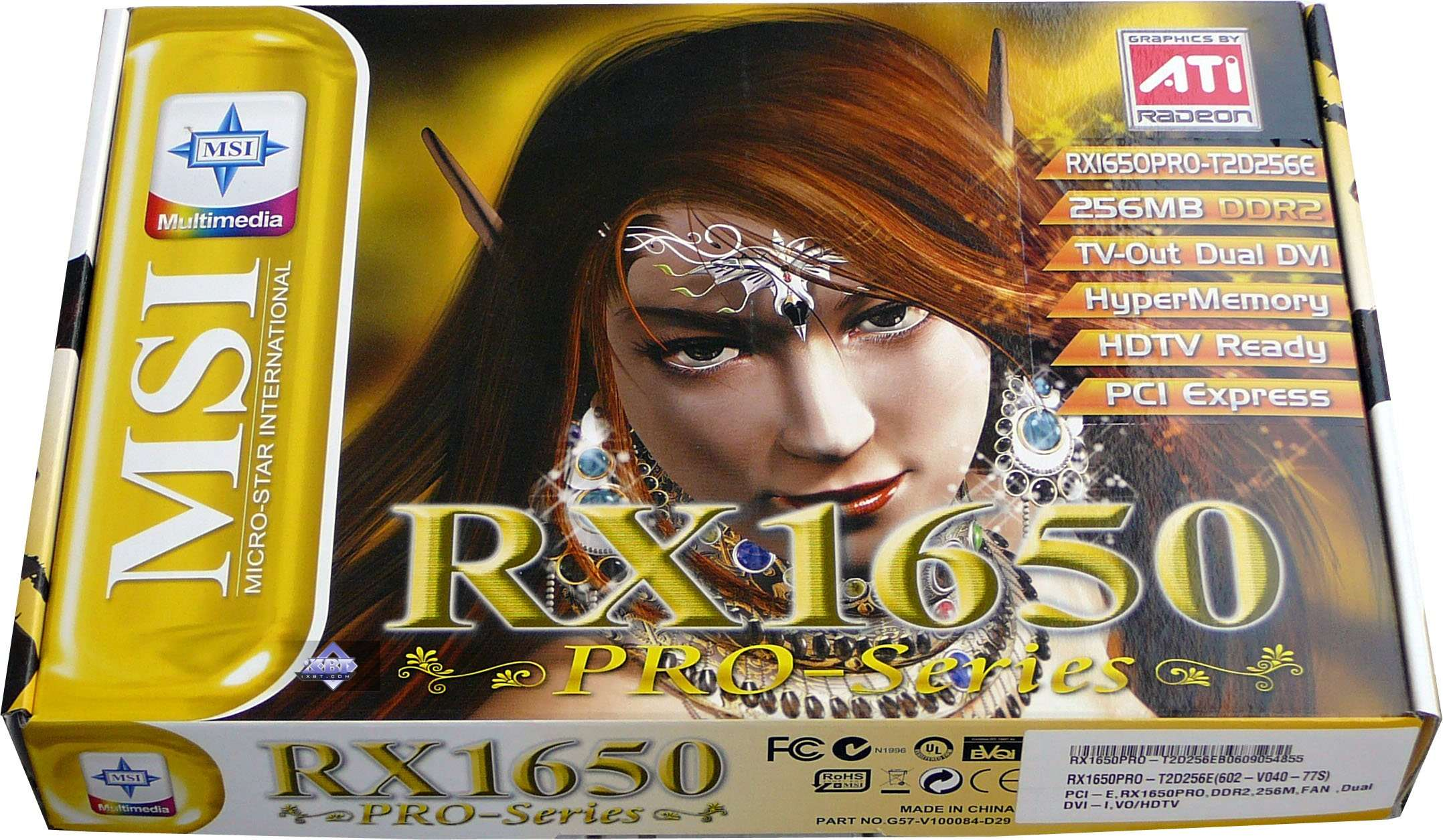 MSI RX1300PRO-TD256E - graphics card - Radeon X1300 Pro - 256 MB Specs