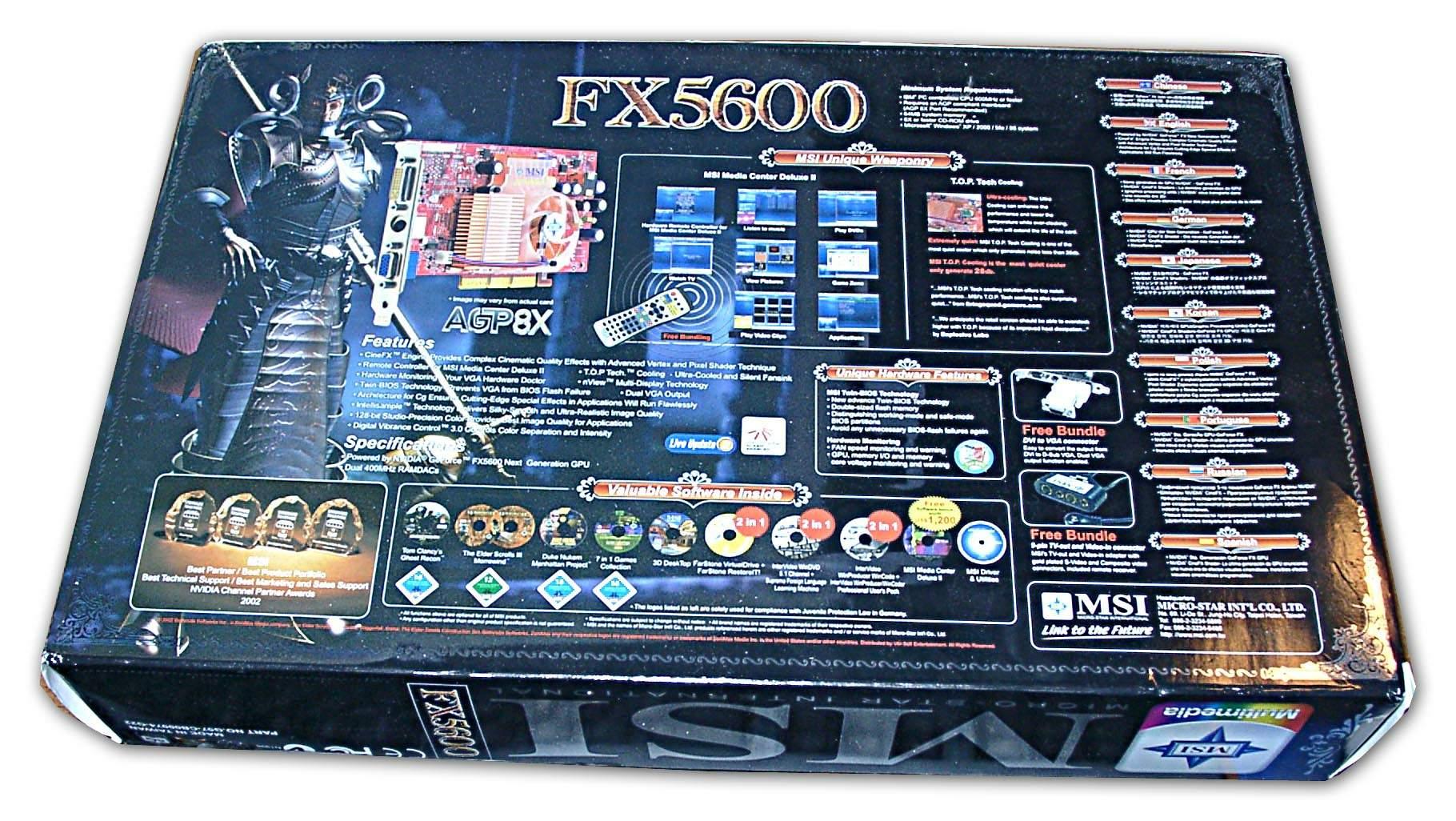 Fx5600 vtdr128 ms 8912 128mb на базе nvidia geforce fx 5600