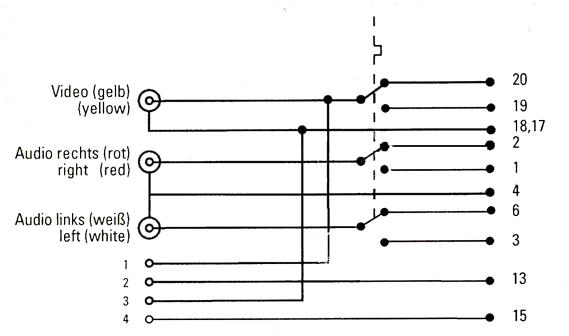 Схема переходника приведена