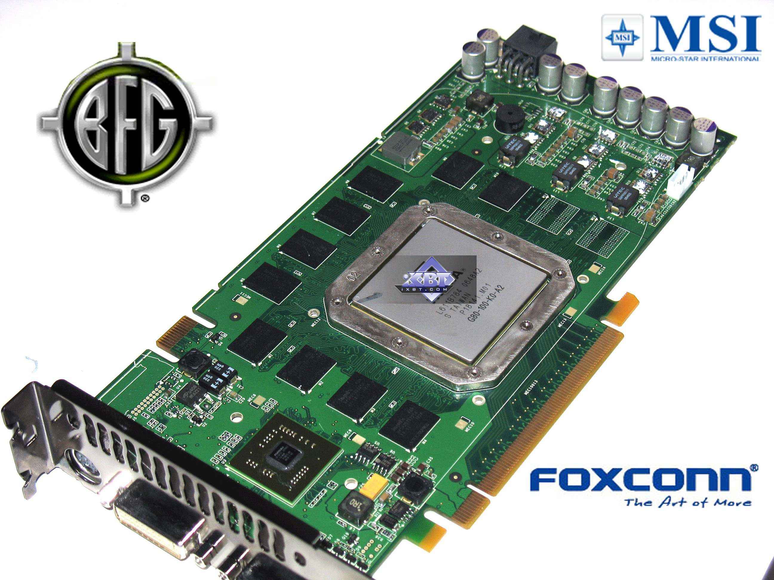 NVIDIA GeForce 8800 GTS 320MB From BFG MSI And Foxconn