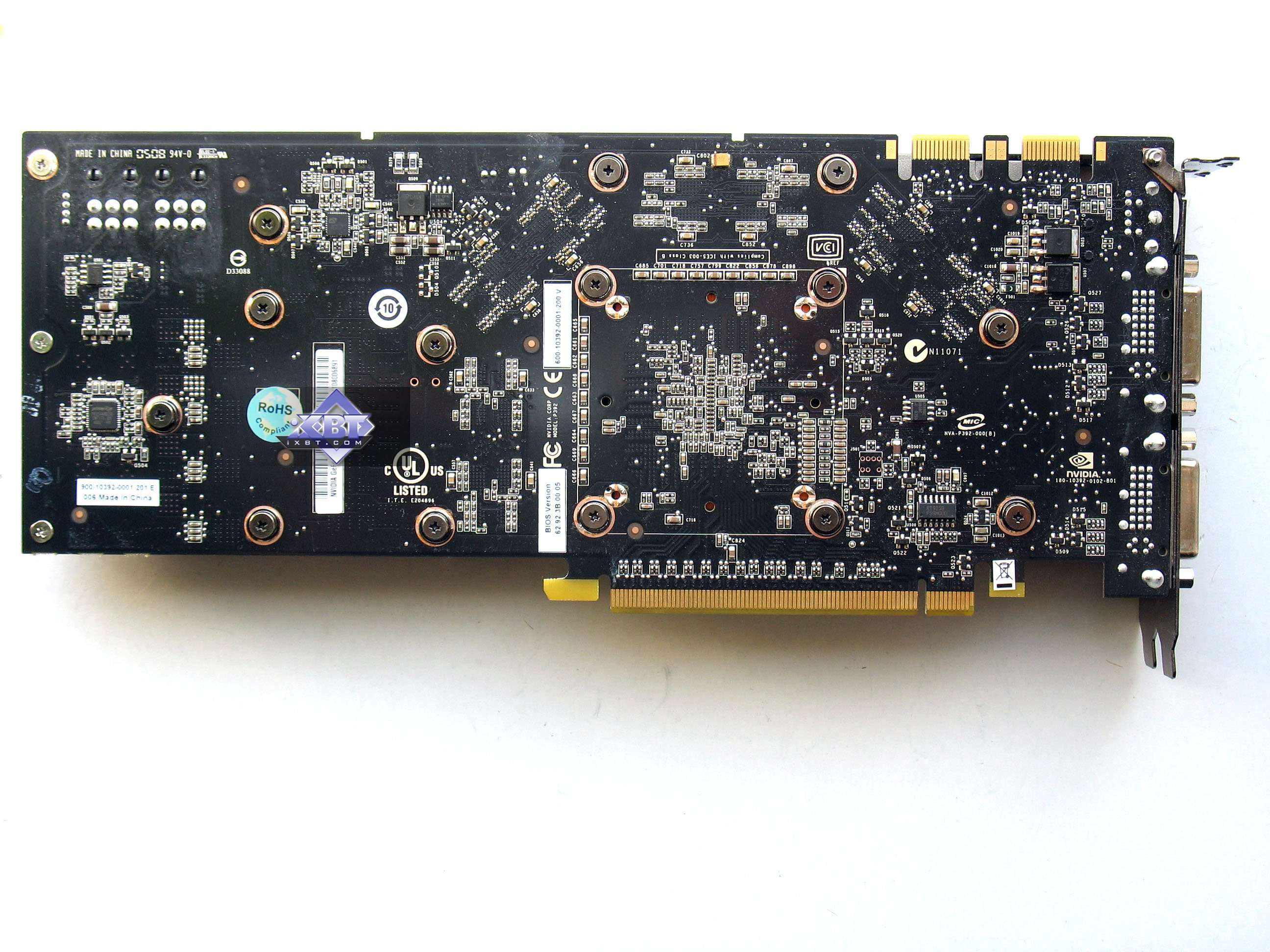 Video card GeForce 9800 GTX: review, features, reviews 8