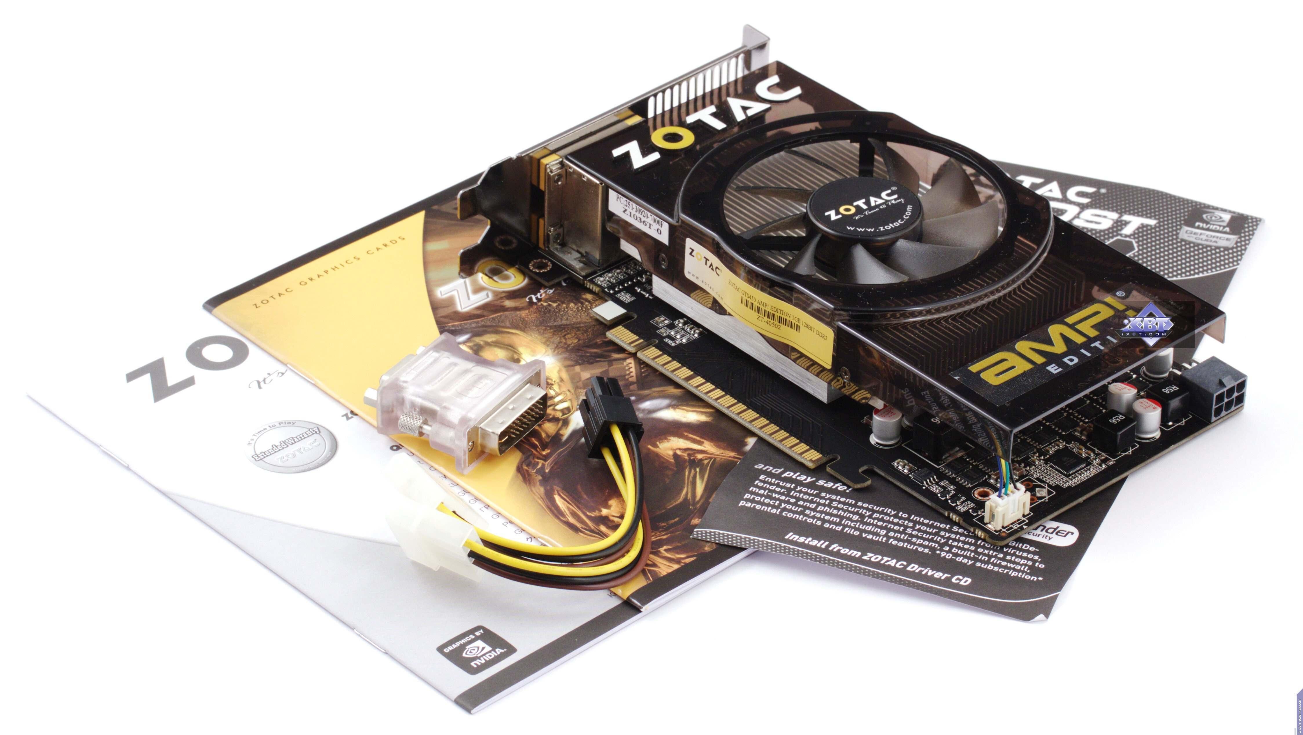 Zotac GeForce GT 430 ZONE, GTS 450 AMP!, GTX 460 AMP!, GTX 580
